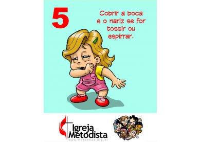 Imagens dos Aventureiros em Missão sobre Coronavírus para orientar crianças