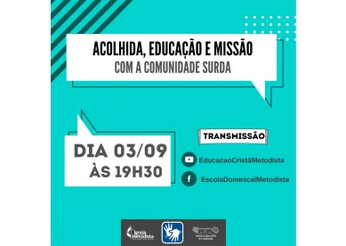 Live da Escola Dominical   Acolhida, educação e missão com a comunidade surda